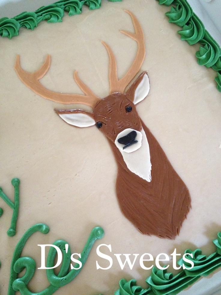 Marshmallow Fondant Deer For A Hunter S Birthday Cake Www
