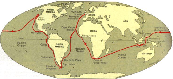 Sir Francis Drake First Voyage Route