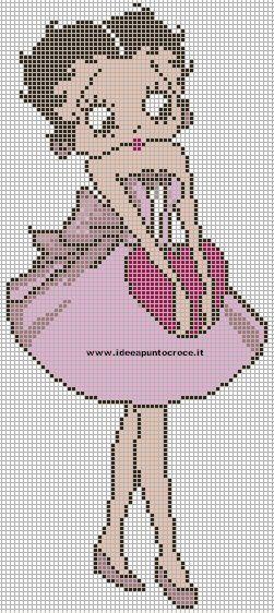 Betty Boop Crochet Graph Patterns