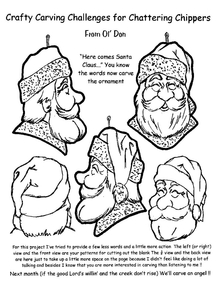 Wood Cowboy Caricature Carving Patterns