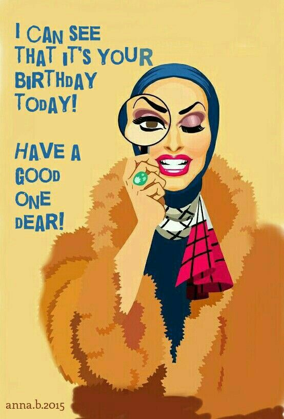 Happy Queen Birthday Drag Cards