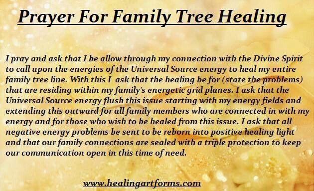 Healing Prayers Family Members