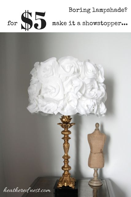 Silver White Flower Lamp Shade