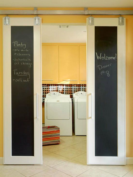 Double Doors Laundry Room