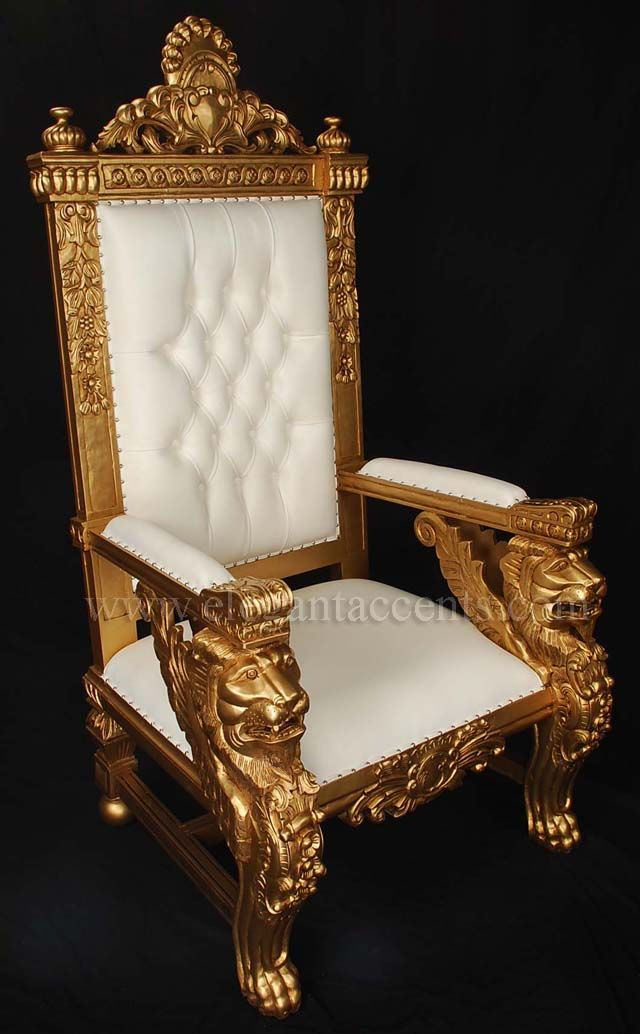 Gold Color Accent Chair