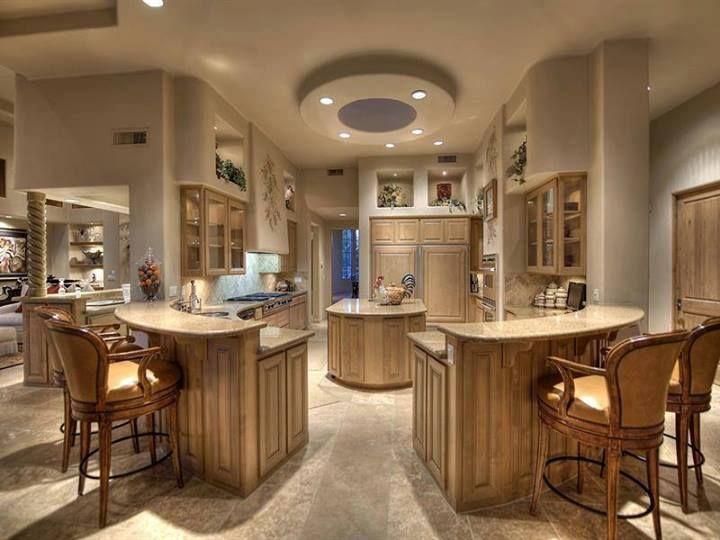 Odd Shaped Islands Kitchens