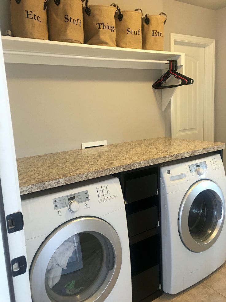 Laundry Room With Counter Over The Washer Dryer Slide