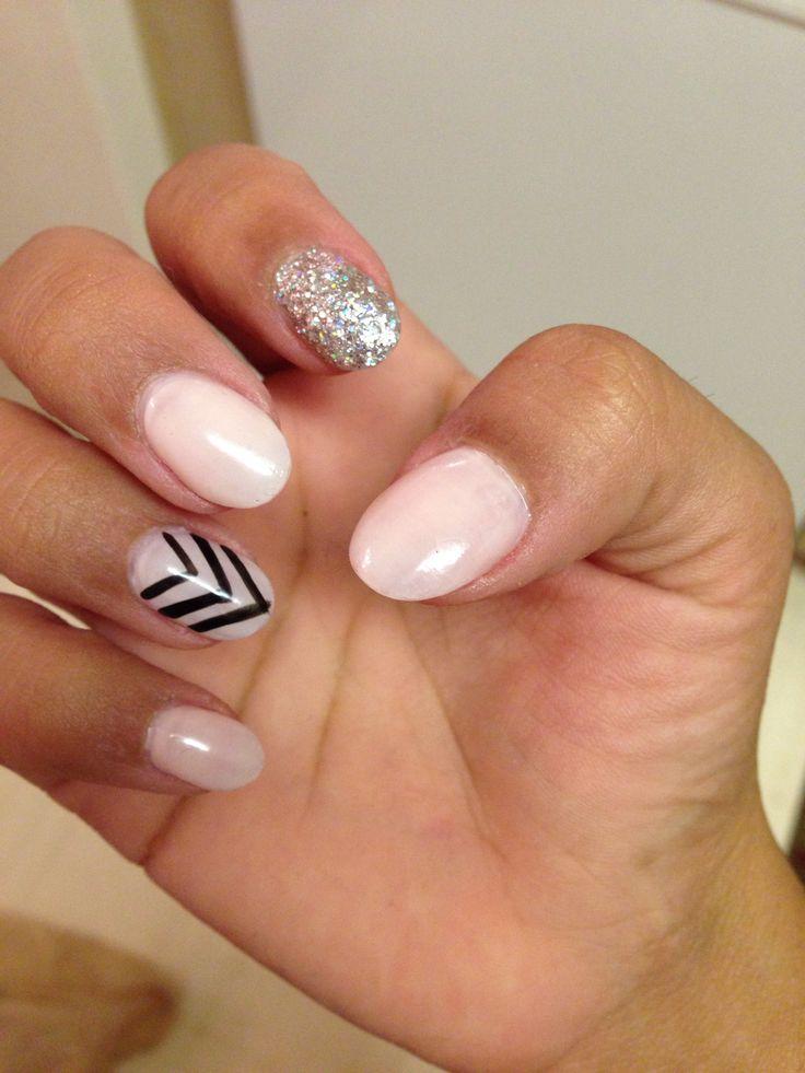 White Almond Nails Pastel