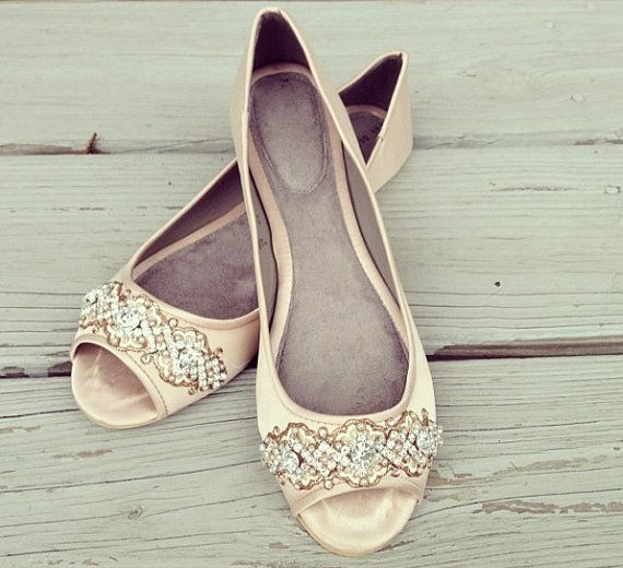 Ivory Flat Wedding Shoes