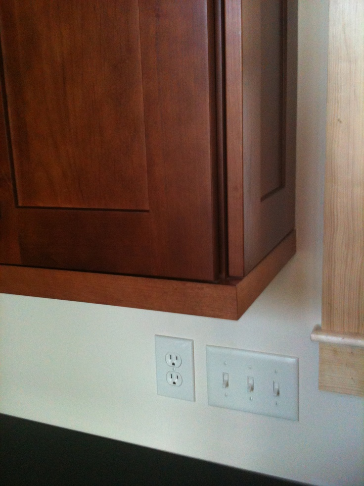 Authentic End Panel On Wall Cabinet W Shaker Light Rail