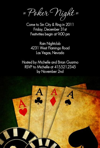 Vegas Theme Party Invitations