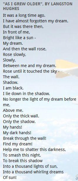 Sing Too America I Poem
