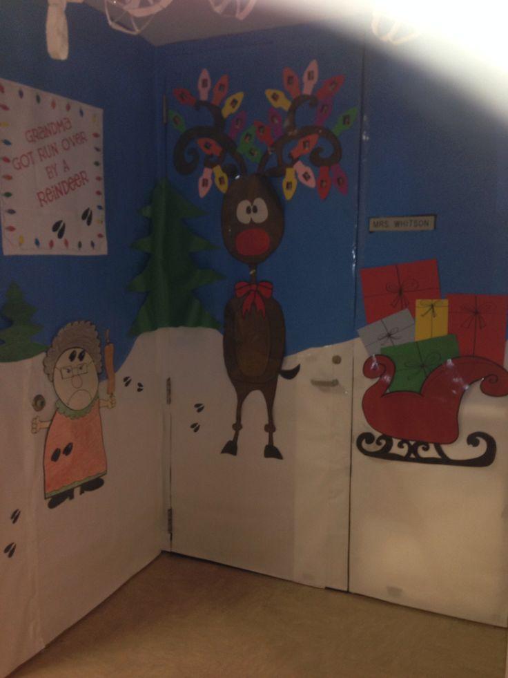 1000 Images About Xmas Door On Pinterest Reindeer Home