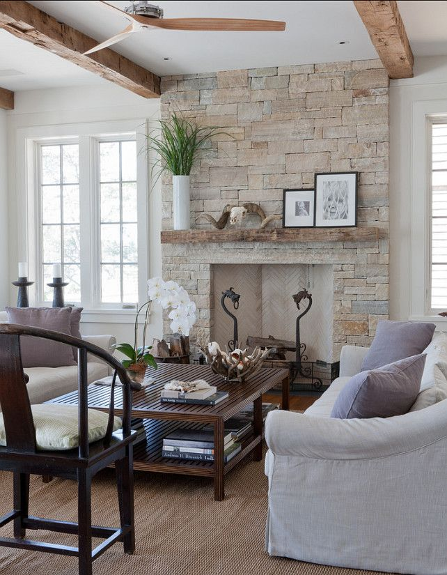 Ideas Rocks Beach Fireplace