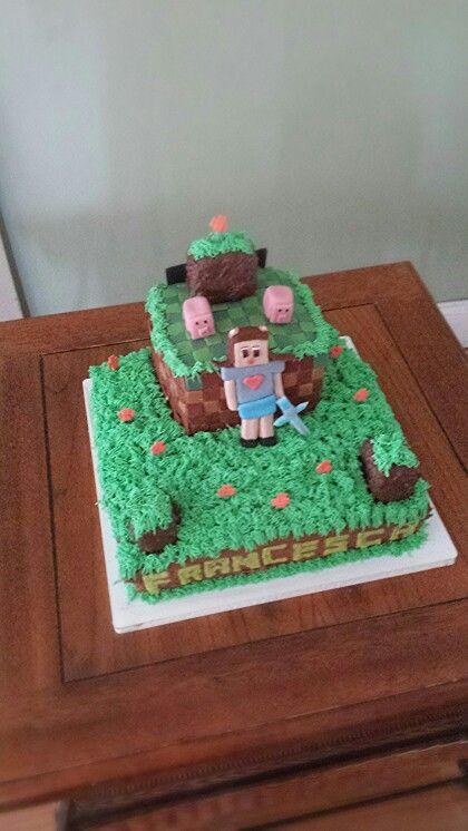Minecraft Cake For A Girl Cleek Cakes Pinterest