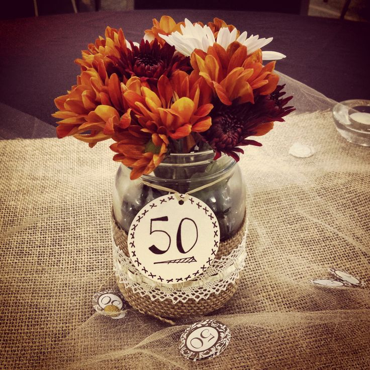 Centerpieces 50th Wedding Anniversary