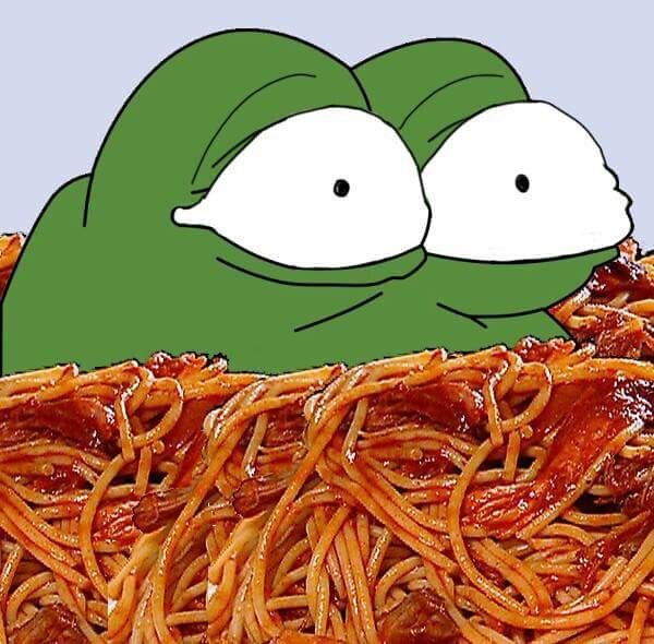 Pepe Frog Spaghetti Template
