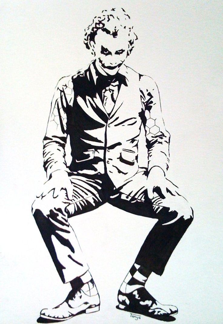 Silhouette Quinn Love Joker Harley