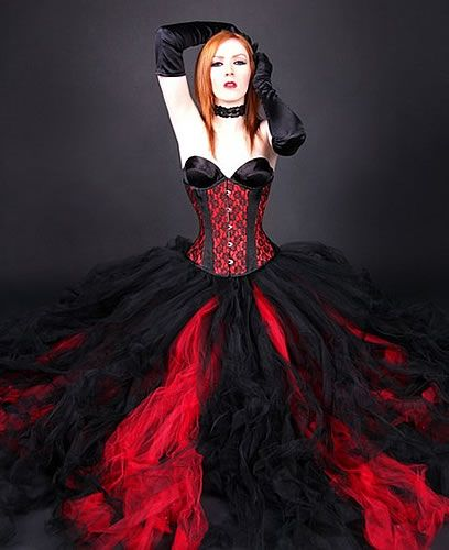Red Wedding Gothic Gowns And Black