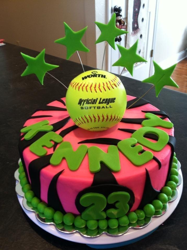 13th Birthday Cakes For Girls Softball