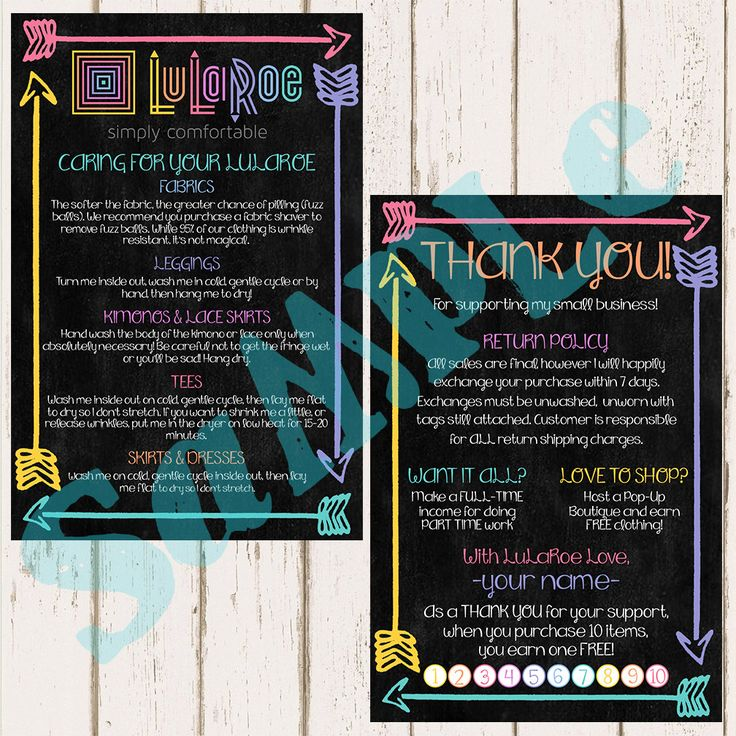 Lularoe Approved Cards Business
