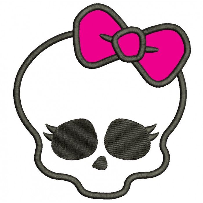 Template Monster High Skull
