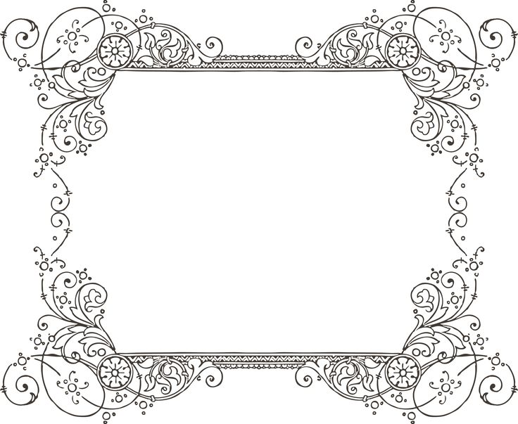 Old French Envelope Border Fashioned
