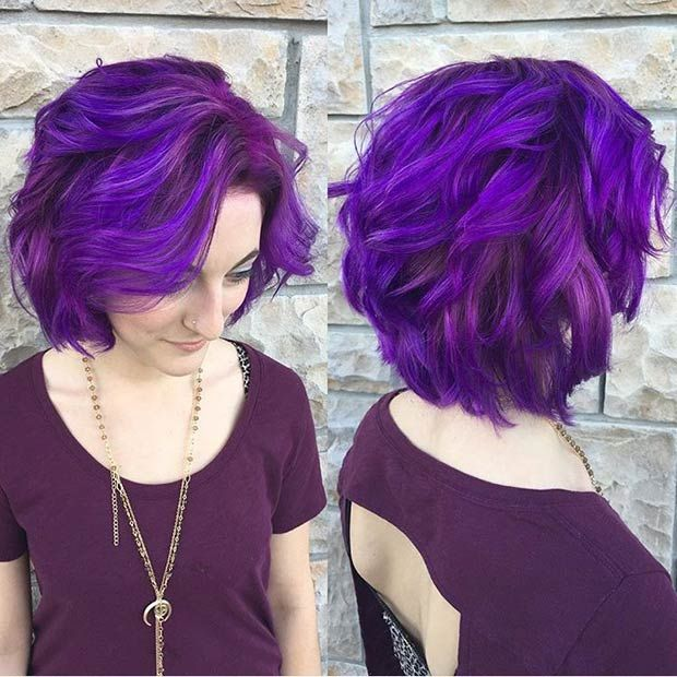 Mexican Girls Short Purple Hair