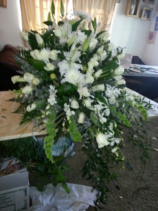 White Candle Memorial Roses And