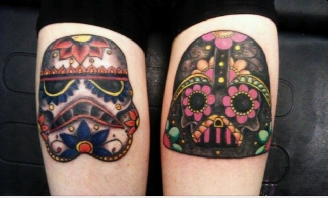 Star Wars Sugar Skull Tattoo