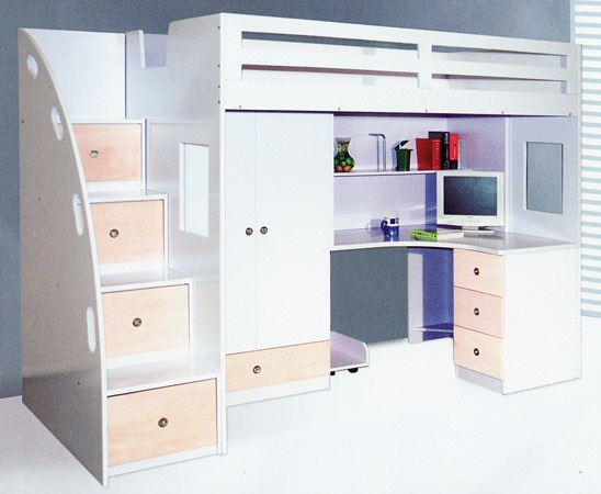 King Single Loft Bed Kids Bedroom Ideas Pinterest Lofts