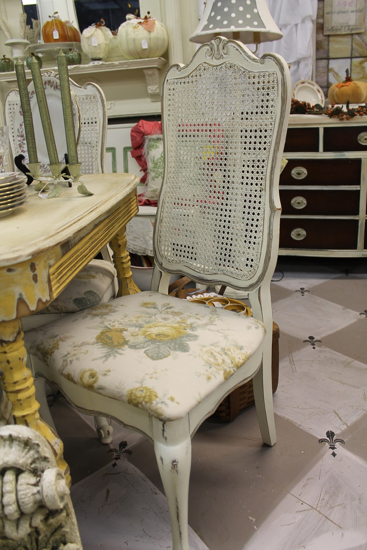 French Cane Back Chairs Ascp Old White And French Linen