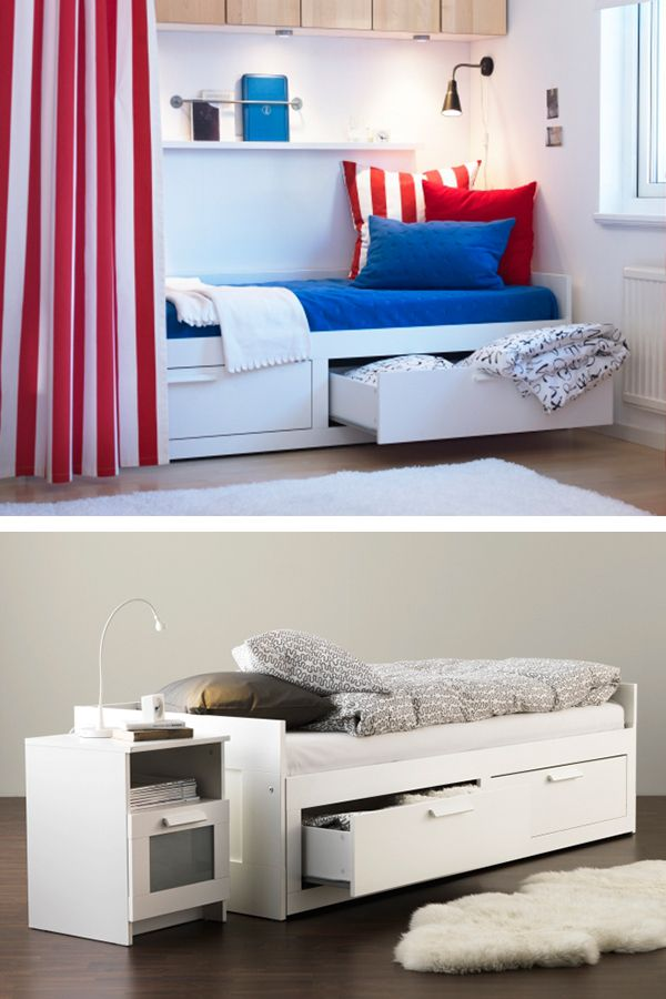 Brimnes Daybed Frame With 2 Drawers White Day Bed The