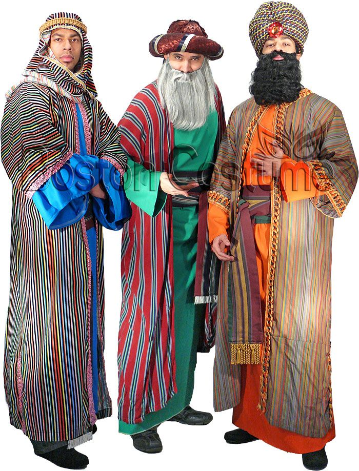 Colorful Hats Men Robes Costume
