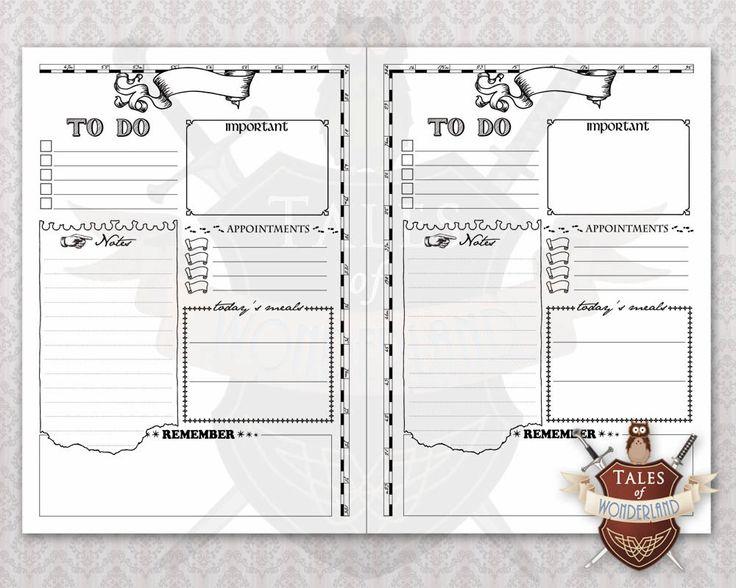 Diy Organizer Printables Free Planner