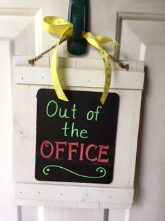 Out Of The Office Sign Diy Speech Language Office I Made
