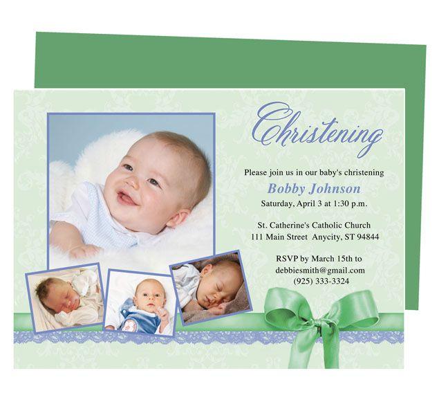 Invitation Baby Christening