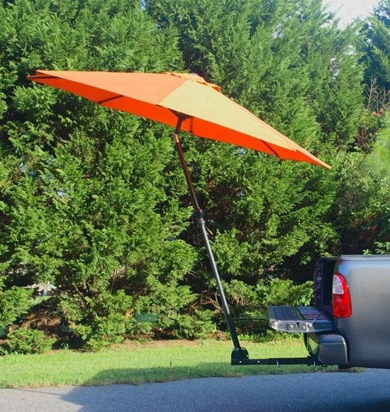 Trailer Hitch Mount Umbrella Support For Tailgating