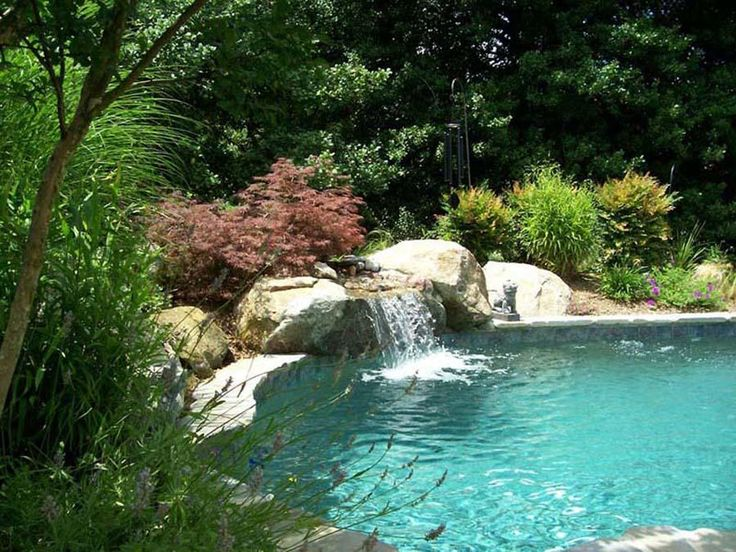 Clear Natural Pool Waterfalls