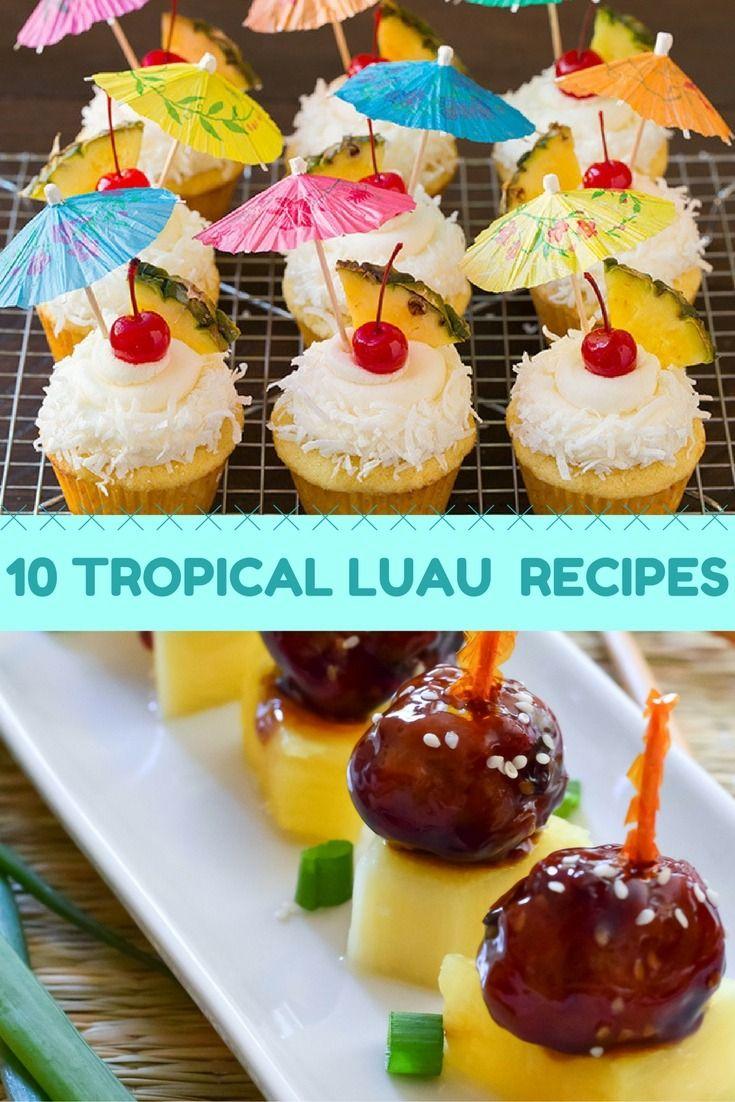 Hawaiian Luau Party Recipes