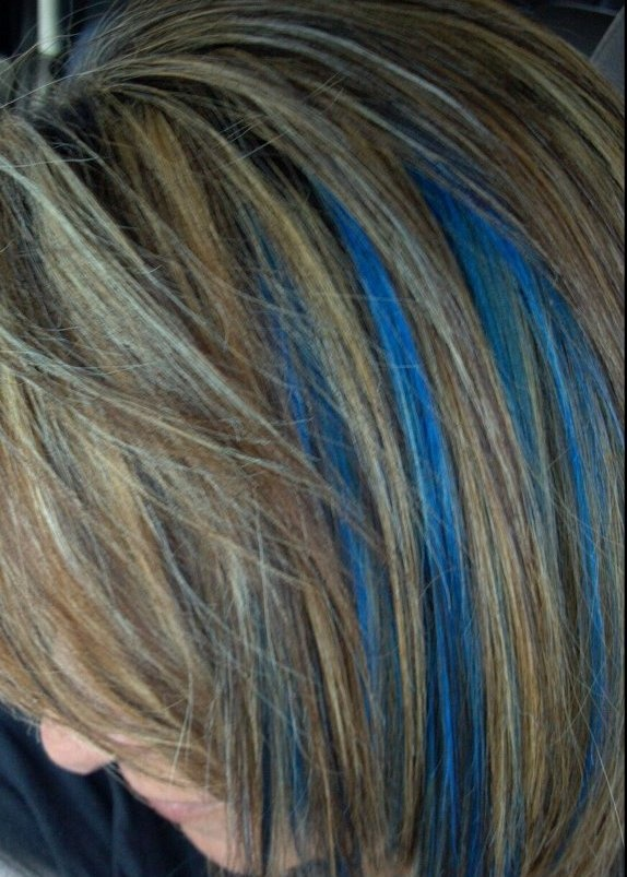 Dirty Blonde Hair Blue Highlights