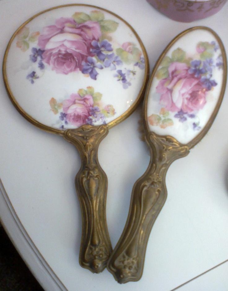 Antique Brush And Comb Set