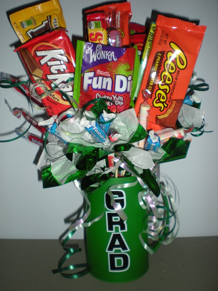 Christmas Candy Bouquet Gift Baskets