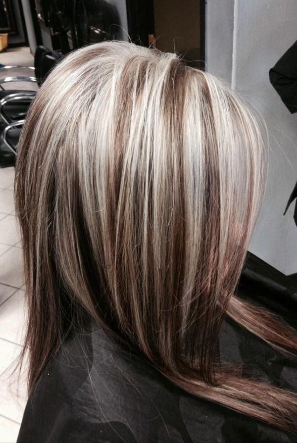 Heavy Blonde Highlights Brown Hair