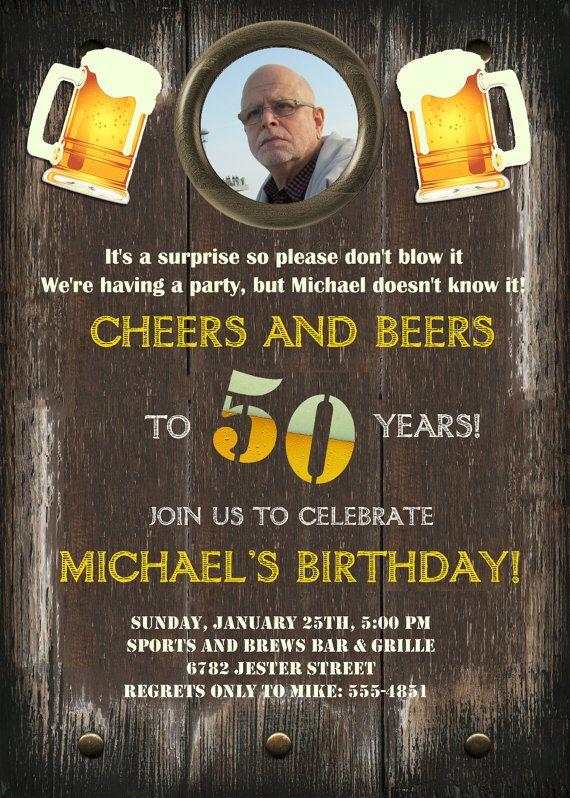 Printable Invitations 50th Anniversary