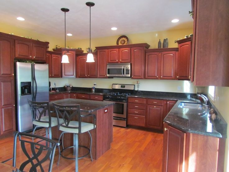 Rouge Cabinet Color Dunlap Il Kitchen Cabinets Are