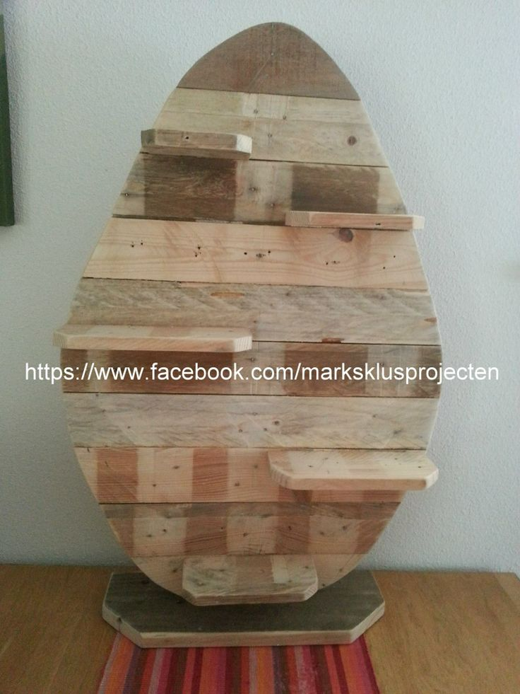 Easter Egg Made From Pallet Wood The Egg Is Approximately