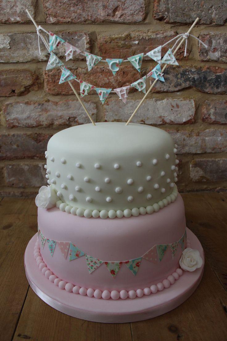 Vintage Bunting Birthday Cake Lauren S First Birthday