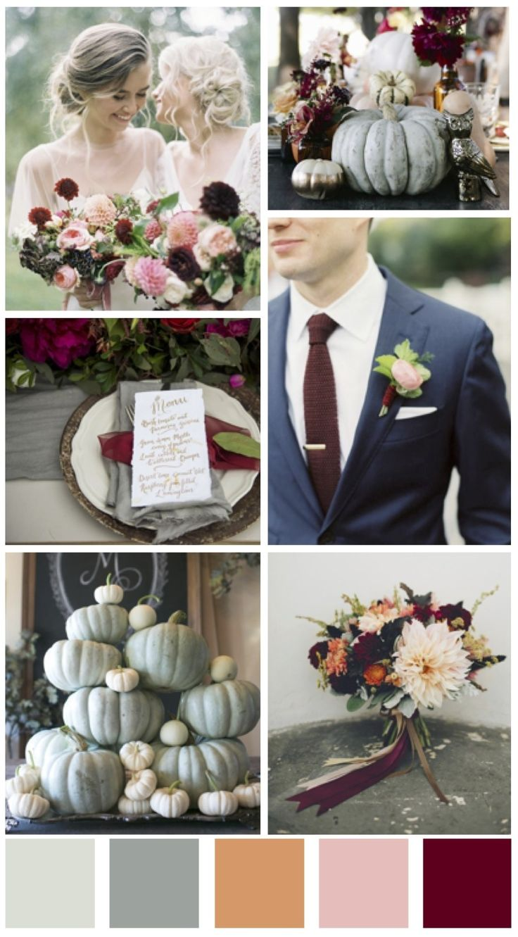 Fall Blue Wedding Colors