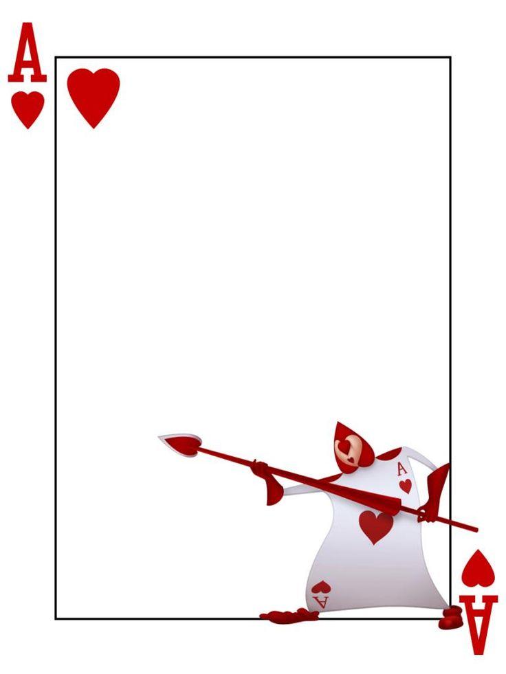 Card Templates Queen Hearts Border